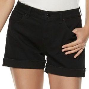 NWT JLo Mid Rise Black Shorts